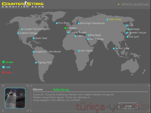 Counter-Strike: Condition Zero Deleted Scenes Türkçe Yama 1. Ekran Görüntüsü