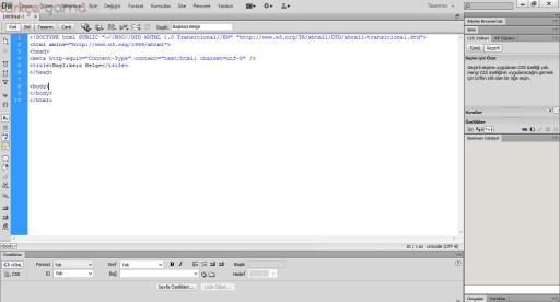 Dreamweaver CS6 Türkçe