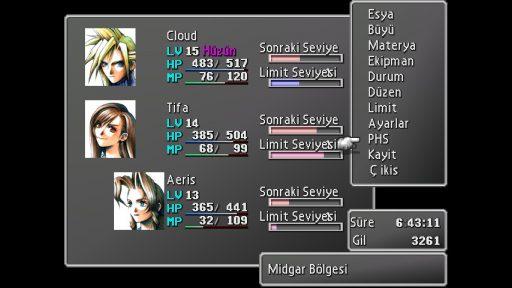 Final Fantasy VII Türkçe Yama 1. Ekran Görüntüsü
