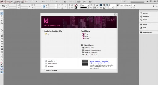 InDesign CS6 Türkçe Yama