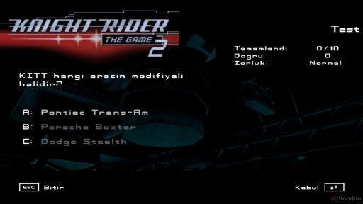 Knight Rider 2: The Game Türkçe Yama 3. Ekran Görüntüsü