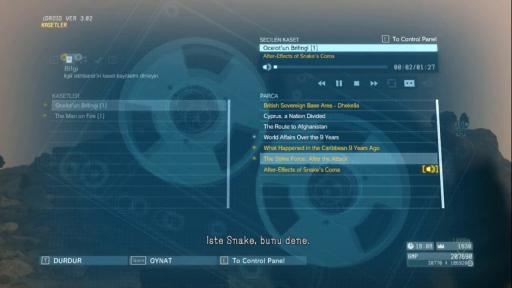 Metal Gear Solid V: The Phantom Pain Türkçe Yama 1. Ekran Görüntüsü
