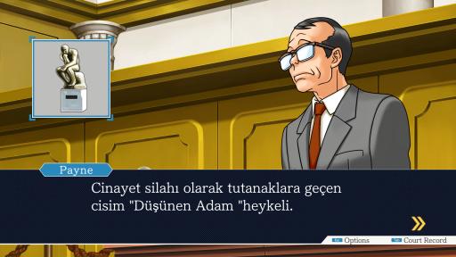 Phoenix Wright: Ace Attorney Trilogy - The First Turnabout Episode 1 Türkçe Yama 3. Ekran Görüntüsü