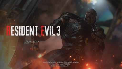 Resident Evil 3 Remake Türkçe Yama 1. Ekran Görüntüsü