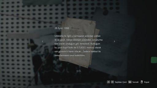 Resident Evil 3 Remake Türkçe Yama 3. Ekran Görüntüsü