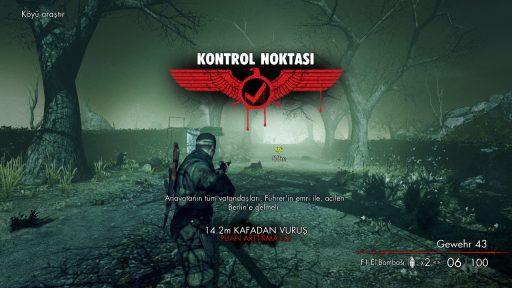 Sniper Elite Nazi Zombie Army Türkçe Yama 4. Ekran Görüntüsü